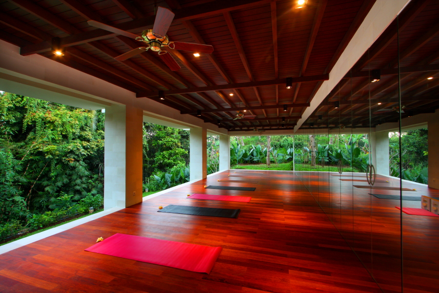 Yoga pavilion at BeingSattvaa